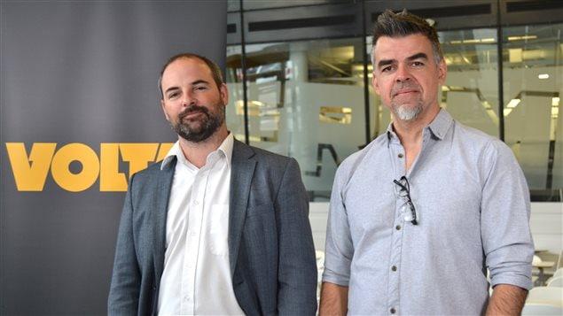 Nicolas Liorzou, Directeur régional Keywords et Christian Daigle, co-fondateur et chef de la direction de Frima Studios
