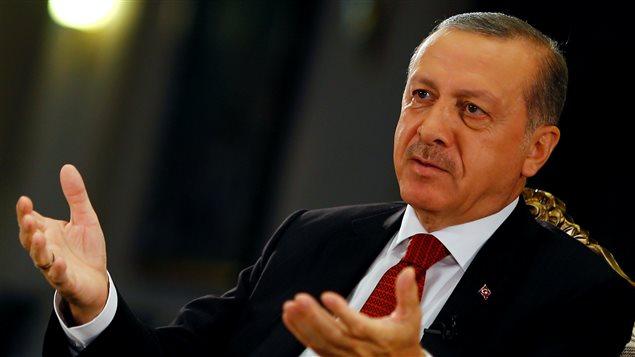 Le président turc Recep Tayyip Erdogan au palais présidentiel à Ankara