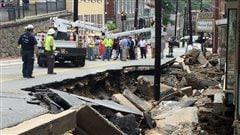 Une ville au Maryland ravagée par des inondations