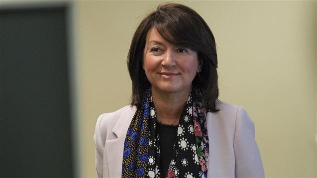 Nathalie Normandeau au palais de justice de Québec.