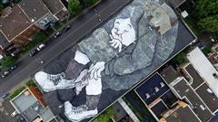 Les fresques d'Ella et Pitr sur les toits