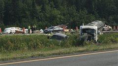 Daveluyville : 4 blessés légers dans un accident sur l'autoroute 20