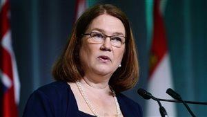 La ministre fédérale de la Santé, Jane Philpott