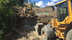 Un chantier de construction sur la rue Lafrance à Gatineau
