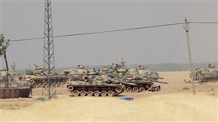 Des tanks de l'armée turque