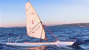 Le SailBot, un voilier robotisé conçu par des étudiants de UBC en route pour la traversée de l'Atlantique.