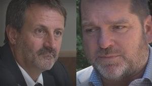 Les députés Sylvain Roy et Harold Lebel