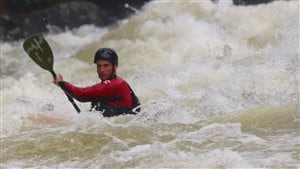Cédric De Manerffe, kayakiste de Val-d'Or