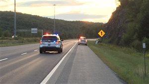 Accident mortel sur l'autoroute 610 à Sherbrooke