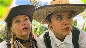 Les exploratrices tentent de trouver le maïs d'or de Taber.