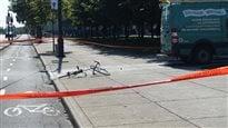 Un périmètre de sécurité a été érigé sur les lieux de l'accident.