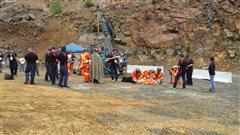 À l'intérieur d'une épreuve de la Compétition internationale de sauvetage minier