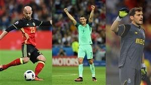 De gauche à droite : Laurent Ciman, Cristiano Ronaldo et Iker Casillas