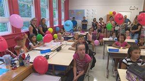 Une des nouvelles classes du pavillon Notre-Dame-des-Prés.