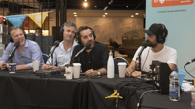 Fred Savard, Olivier Niquet, Jean-Sébastien Girard et Jean-Philippe Wauthier