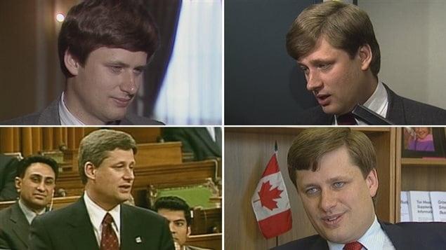 Des photos de Stephen Harper provenant des archives de CBC à Calgary, des années 1990 jusqu'aux années 2000.
