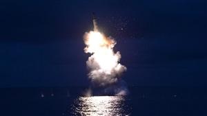 Un tir de missile de la Corée du Nord le 25 août 2016.