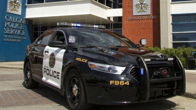 Une voiture de la police de Calgary.