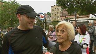 Yvette Drapeau a couru le marathon de Québec en compagnie de ses enfants