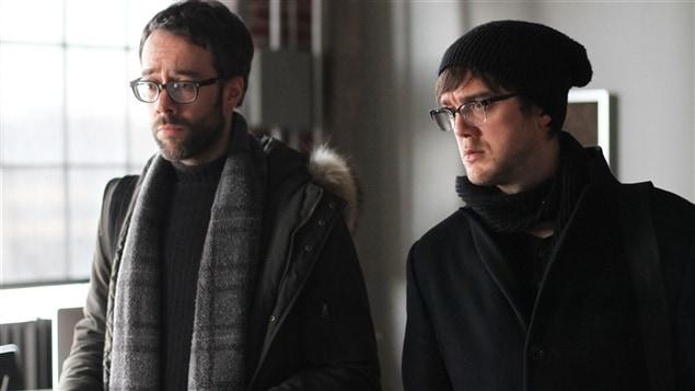 Les comédiens François Létourneau et Vincent-Guillaume Otis de Série noire