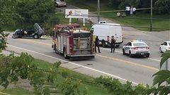 Un mort dans un accident de voiture sur la rue Queen à Lennoxville