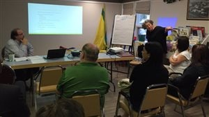 Rencontre de la tournée provinciale de l'Association des parents fransaskois (APF) à Bellevue.