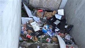 Une maison abandonnée de North Central à Regina est devenue insalubre.