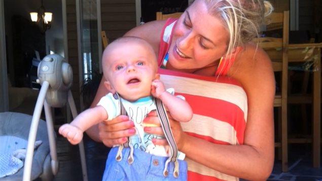 Lynda-Marie et son fils Louis