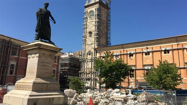 L'Aquila, en Italie, sept ans après le tremblement de terre d'avril 2009.