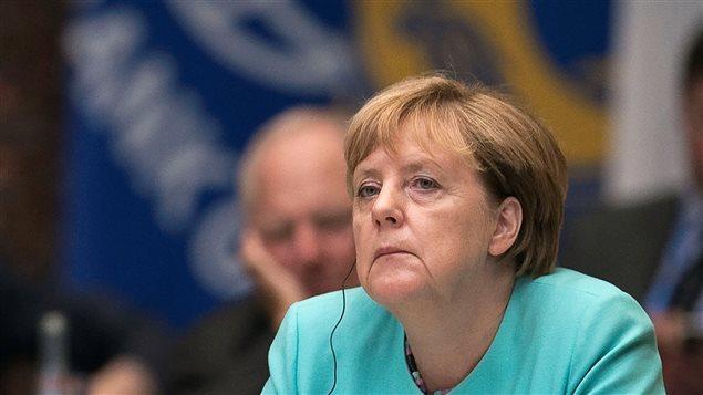 Le parti de la chancelière allemande, Angela Merkel, terminerait troisième dans l'un de ses fiefs