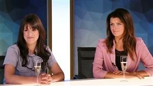 Anne-Élisabeth Bossé et Kim Lévesque Lizotte à la table de l'émission
