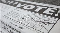 Dépliant faisant la promotion du vote préférentiel à Burlington.