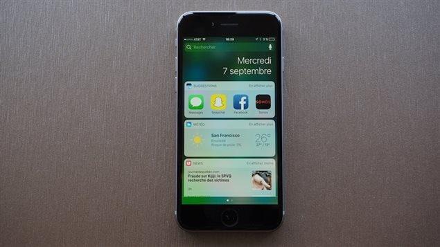 Le système d'exploitation iOS 10.