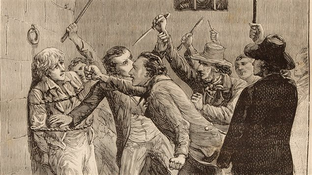 Assassinat de William Morgan, gravure de Pierre Méjanel
