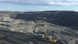 La fosse de la mine Canadian Malartic