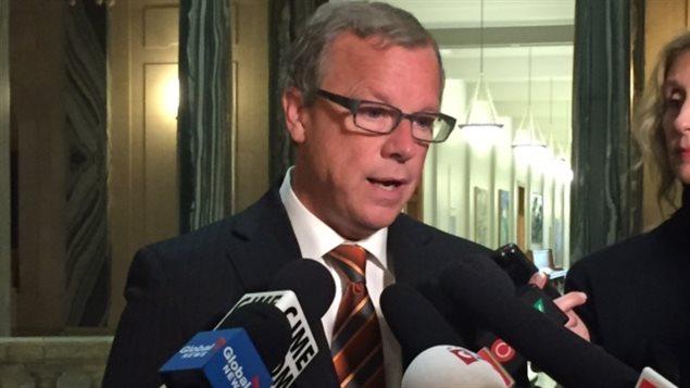 Le premier ministre de la Saskatchewan, Brad Wall.