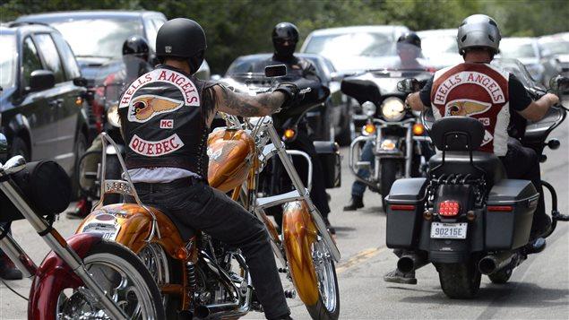 Membres des Hells Angels à Carlsbad Springs, en Ontario