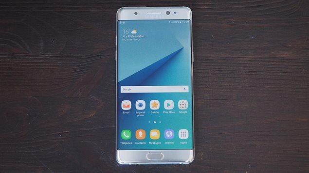 Le téléphone intelligent Samsung Galaxy Note 7.