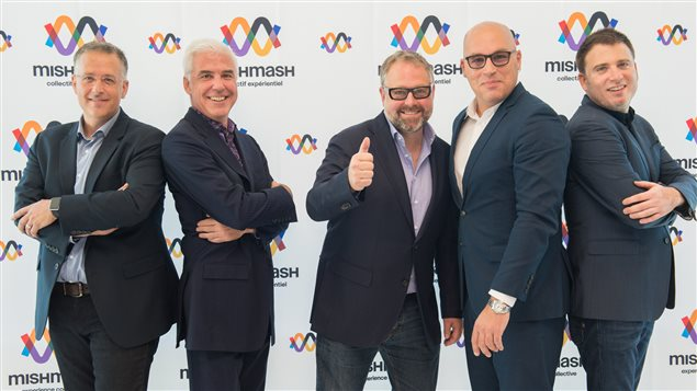 Alexandre Taillefer, entouré d'Éric Albert (XPND Capital), de Pierre Dufour (Productions Opéra MP), de Claude Larivée (La Tribu) et de Pascal Lefebvre (Groupe Piknic Électronik)