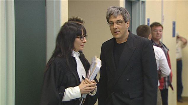 Alain Perreault au palais de justice (archives).
