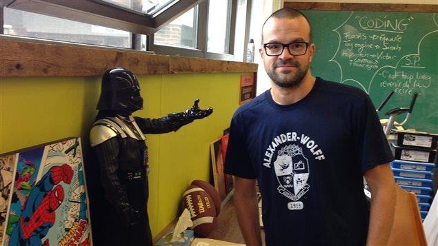 Éric Tremblay, enseignant de 6e année à l'école Alexander-Wolff