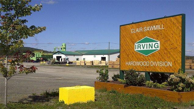 Scierie Irving à Clair NB