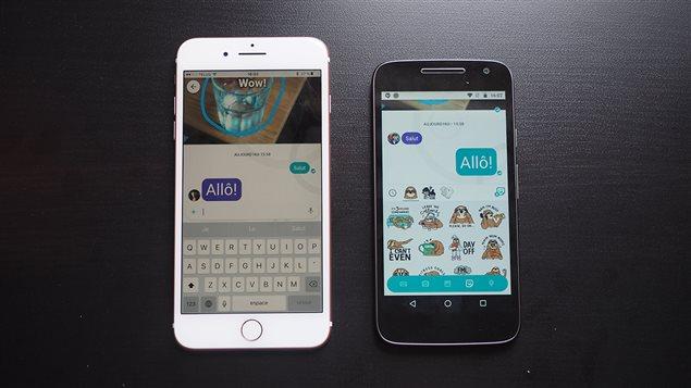 L'application de messagerie Google Allo.