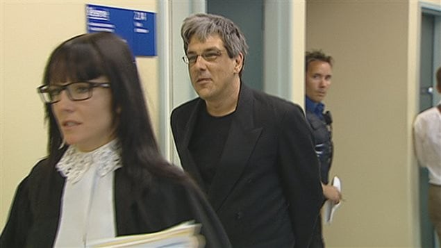 Alain Perreault au palais de justice de Québec en 2010