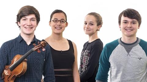 Jérôme Chiasson, Emily Oulousian, Laurianne Houde et Noël Campbell, de jeunes virtuoses!