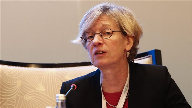 Catherine Mann, économiste en chef de l'Organisation de coopération et de développement économiques (OCDE)