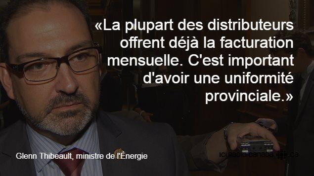 Le ministre de l'Énergie, Glenn Thibeault