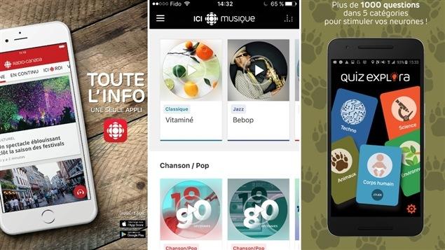 Des applications mobiles de Radio-Canada
