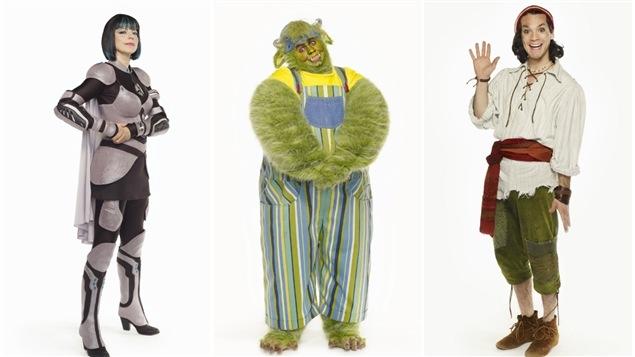 Des personnages de l'émission jeunesse «Salmigondis»