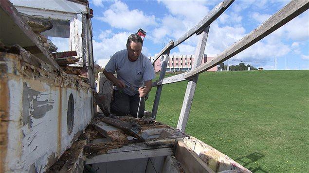 Restauration du bateau de pêche à la morue La Gaspésienne numéro 20